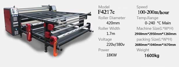 دستگاه چاپ پارچه کلندر مدل f4217c